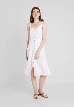 FRONT BUTTON DRESS - Paitamekko - white