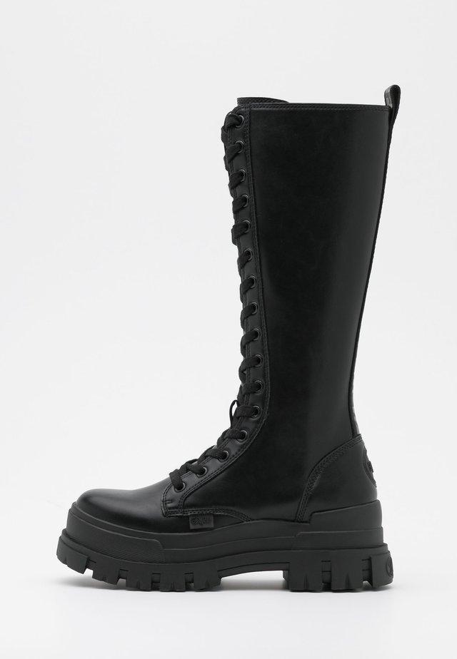 VEGAN ASPHA ON - Platform boots - black