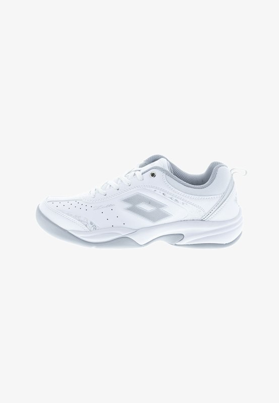 Carpet court tennis shoes - white/silver