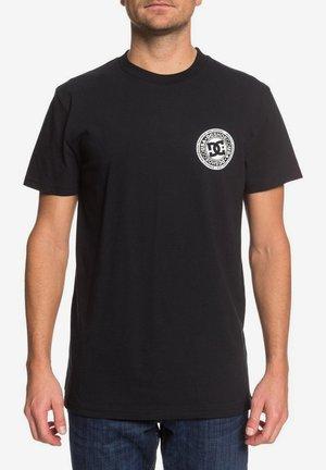 CIRCLE STAR - Print T-shirt - black/snow white