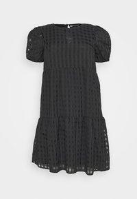 Glamorous Curve - TONAL CHECK TIERED DRESS - Denní šaty - black - 5