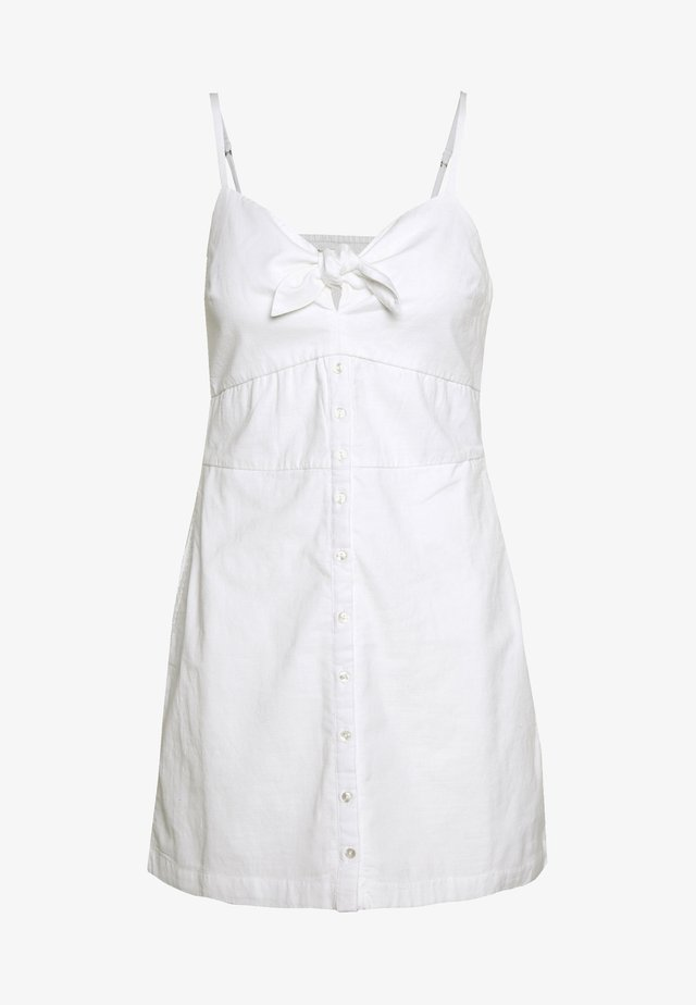 BARE BUTTON THRU MINI - Korte jurk - white