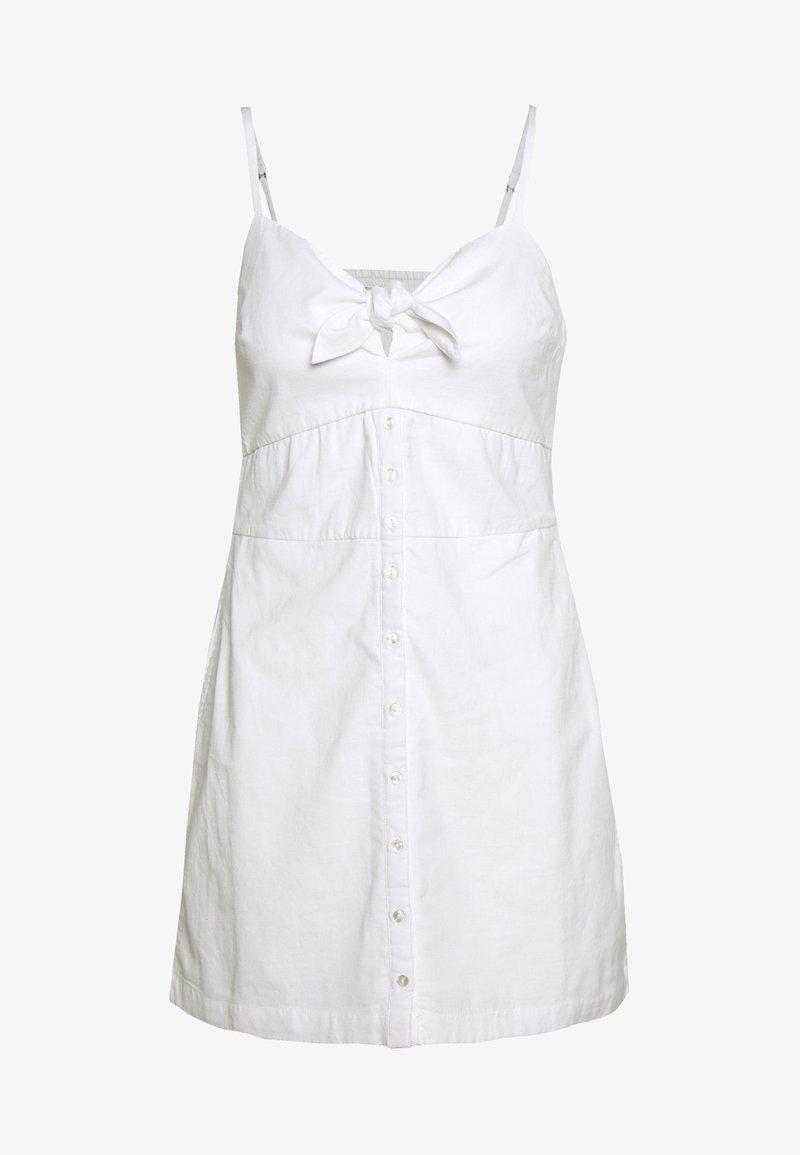 Abercrombie & Fitch - BARE BUTTON THRU MINI - Day dress - white
