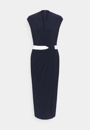 MID WEIGHT DRESS 2-TONE - Jersey dress - navy