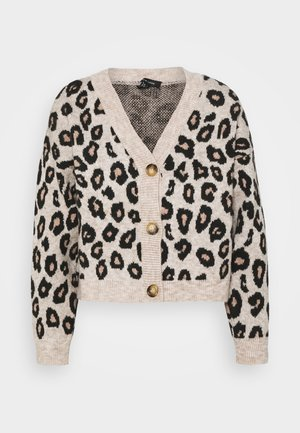 ANIMAL BUTTON THROUGH CARDI - Cardigan - brown
