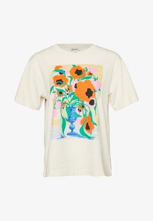 TOVI TEE - T-shirt z nadrukiem - white