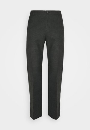 CHECK STRETCH PANTS - Kangashousut - grey