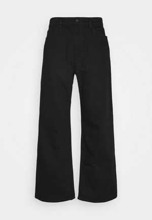 GALLUCKS X NU IN COLLECTION WIDE LEG  - Relaxed fit -farkut - black