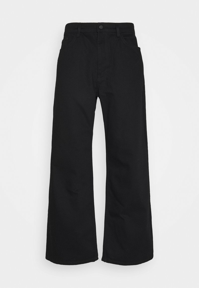 NU-IN - GALLUCKS X NU IN COLLECTION WIDE LEG  - Relaxed fit jeans - black