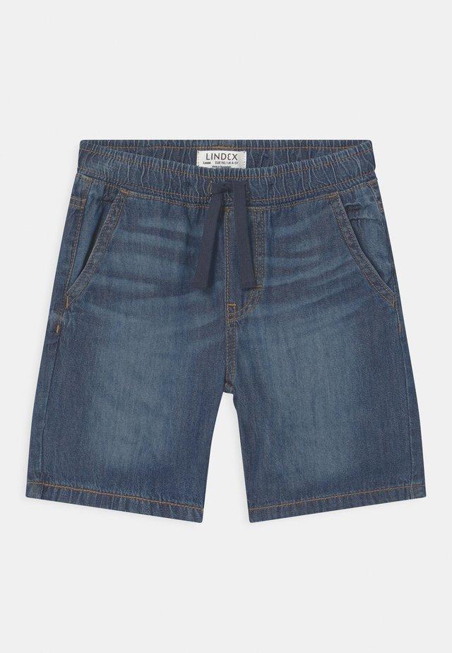 KRILLE - Shorts di jeans - blue denim