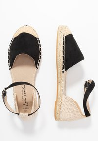 New Look Wide Fit - WIDE FIT MAJESTY - Espadryle - black - 1