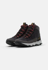Columbia - FLOWBOROUGH MID - Hiking shoes - dark grey/bright gold - 1