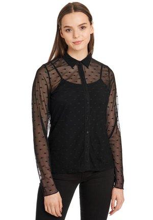 BLACK DOTS - Button-down blouse - schwarz