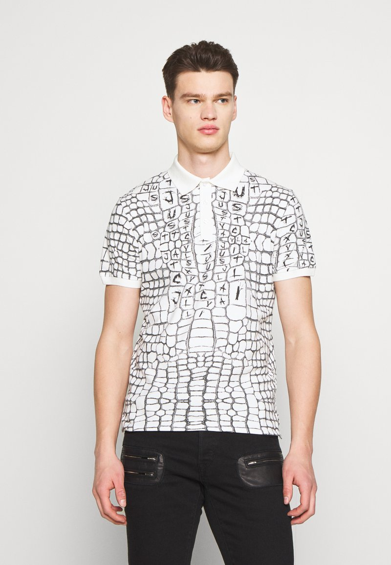 Just Cavalli - ANIMAL PRINT - Polo shirt - white