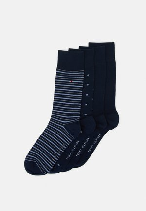 MEN SOCK TIN GIFTBOX STRIPE 4 PACK - Socks - navy