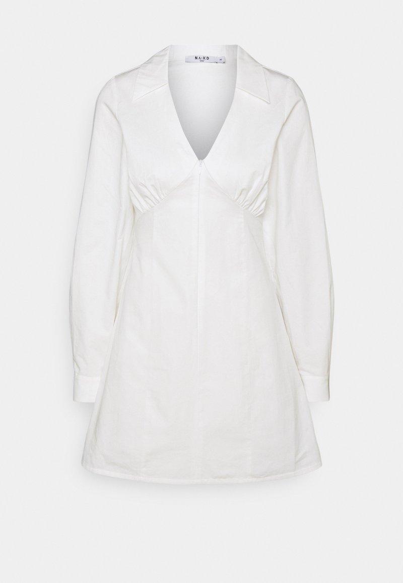 NA-KD - TAILORED MINI DRESS - Cocktail dress / Party dress - white