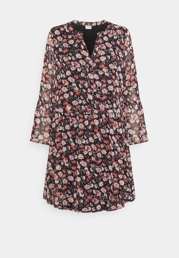 JDYKYLIE SHORT DRESS - Kjole - black/pastel rose