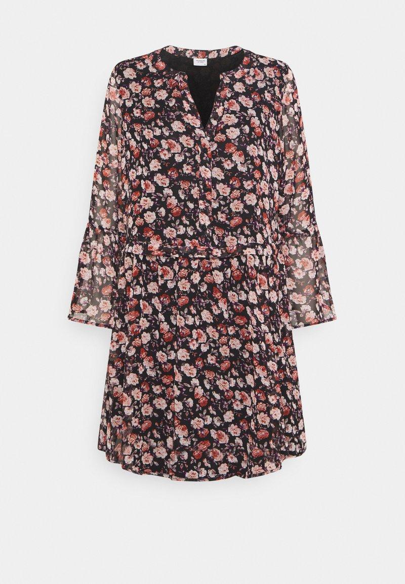 JDY - JDYKYLIE SHORT DRESS - Denní šaty - black/pastel rose