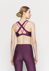 Under Armour - CROSSBACK LOW SHINE - Light support sports bra - polaris purple - 2