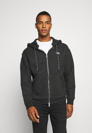 PREMIUM HEAVYWEIGHT ZIP - Zip-up hoodie - black bird heather