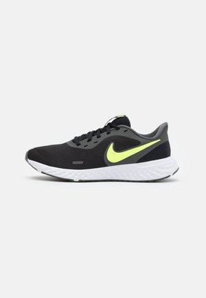 REVOLUTION 5 - Neutral running shoes - black/white/university gold/volt glow
