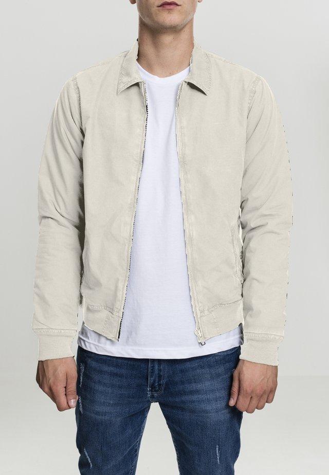 COTTON HARRINGTON - Summer jacket - sand