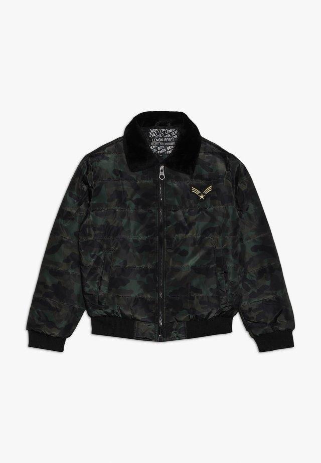 TEEN BOYS JACKET - Winter jacket - khaki/black