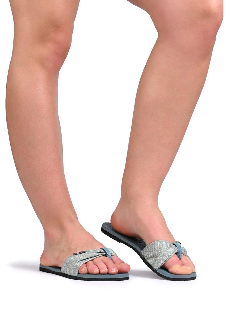 Havaianas - HAVAIANAS TAP DANCE YOU T TROPEZ MATERIAL 4144363.7606 - Sandals - bluish-gray