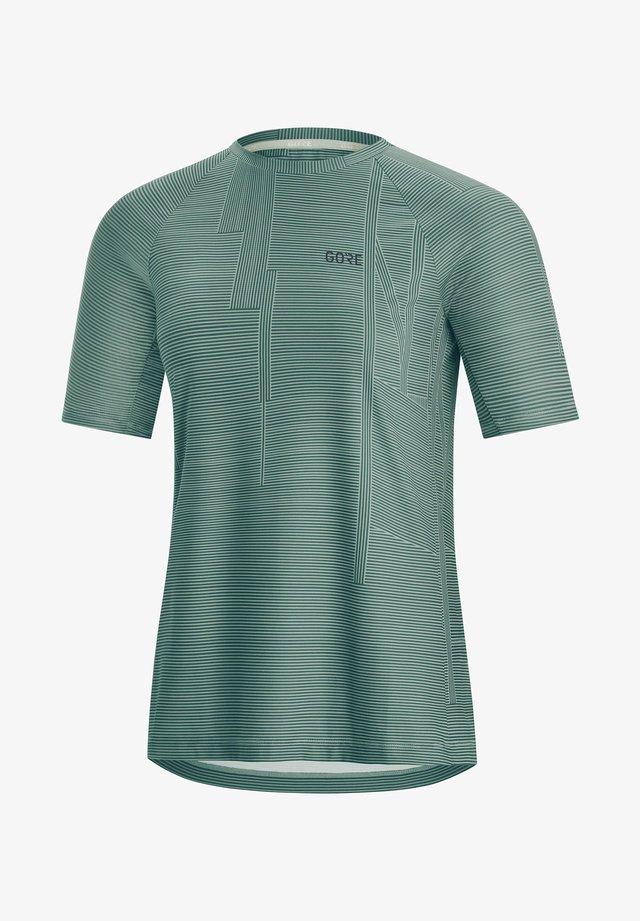 BRAND SHIRT - Sports shirt - rauchblau