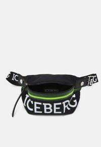 Iceberg - BUM BAG UNISEX - Across body bag - black - 2