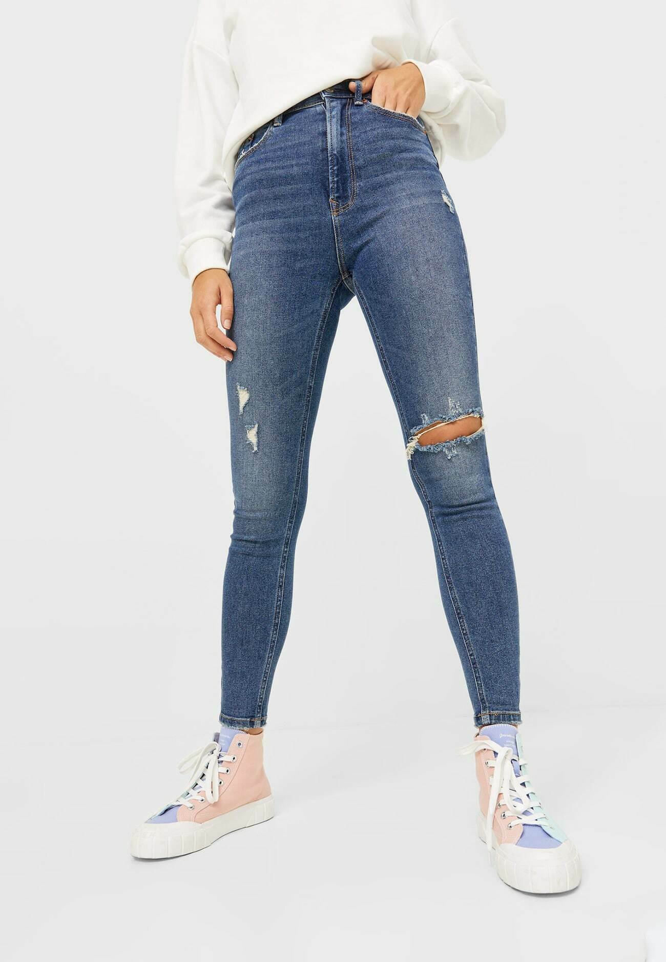 Damen SUPER HIGH WAIST IM VINTAGELOOK - Jeans Skinny Fit