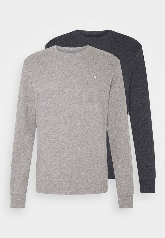 JORBASIC CREW NECK 2 PACK - Sweatshirt - light grey melange