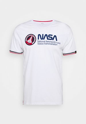 NASA RETRO  - T-shirt z nadrukiem - white