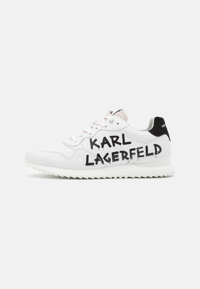 KARL LAGERFELD - VELOCITOR II METEOR BRUSH LOGO - Tenisky - white/black