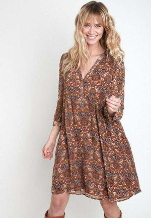 Shirt dress - marron caramel