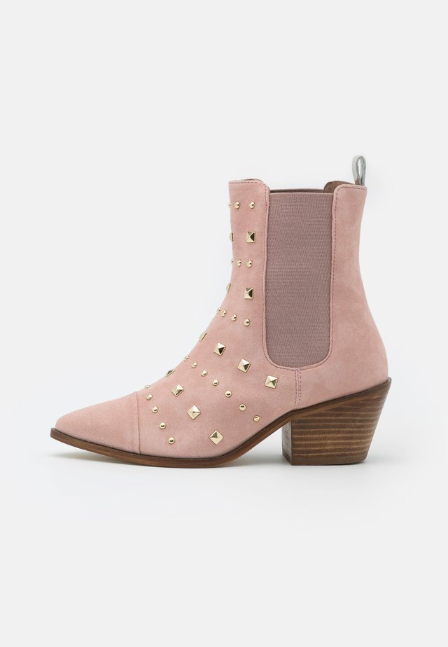 BALL SPRING - Cowboy/biker ankle boot - rose blossom