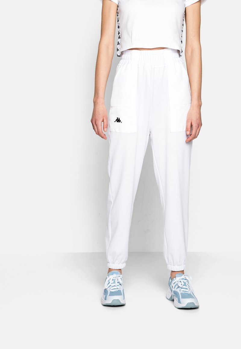 Kappa - IVYNALA - Tracksuit bottoms - bright white