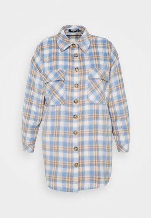 BRUSHED LONGLINE CHECK SHACKET - Short coat - multi