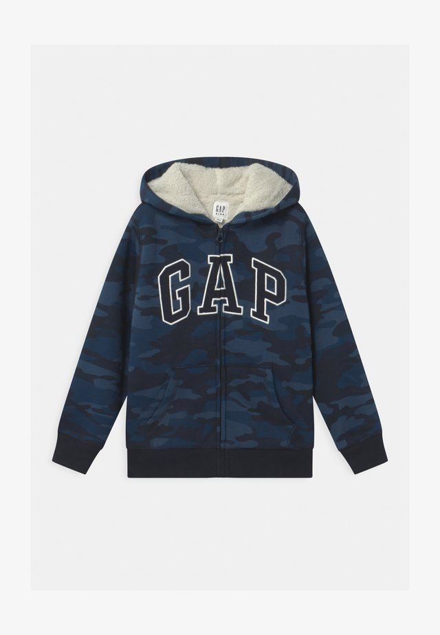 BOY COZY LOGO - veste en sweat zippée - dark blue