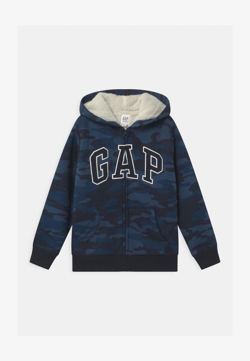 GAP - BOY COZY LOGO - Zip-up hoodie - dark blue