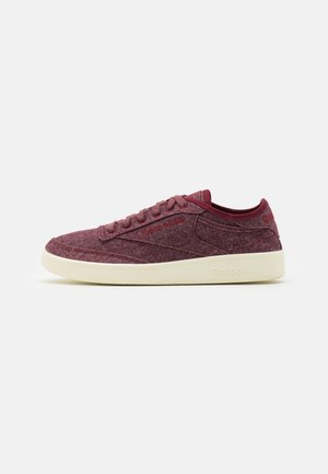 CLUB C W&C UNISEX - Matalavartiset tennarit - merlot/chalk