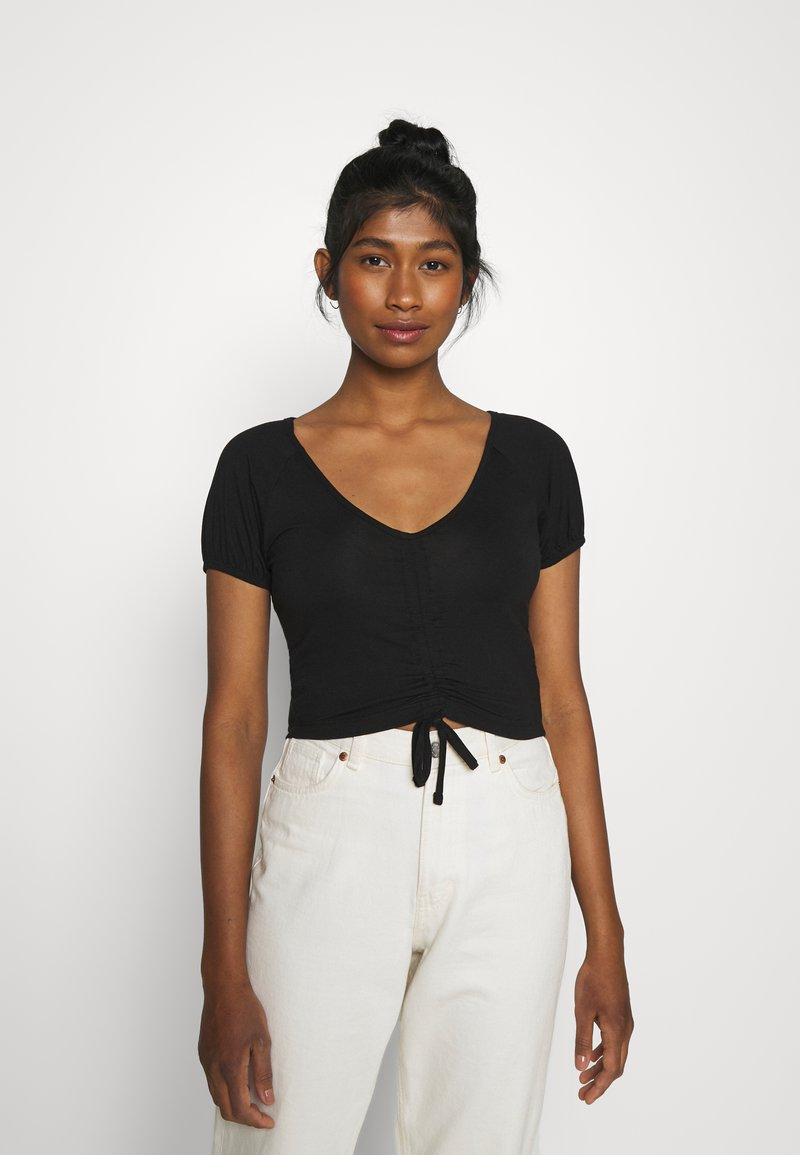 Even&Odd - Print T-shirt - black