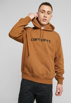Sweat à capuche - hamilton brown/black