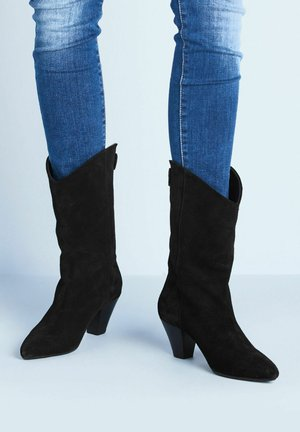 TRISH SOFT - Cowboy/Biker boots - black