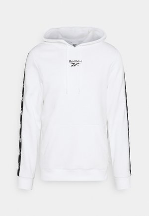 TAPE HOODIE - Jersey con capucha - white