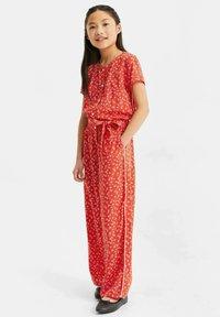 WE Fashion - MET STIPPENDESSIN - Haalari - bright red - 0