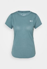 Under Armour - STREAKER SHORT SLEEVE - T-shirts - lichen blue - 3