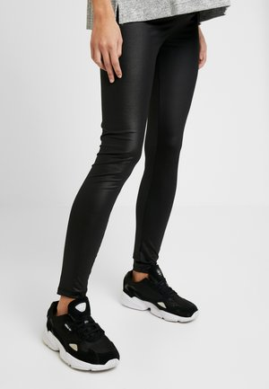 SHINNY - Leggings - Trousers - black