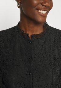 Derhy - APPEL BLOUSE - Button-down blouse - black - 6