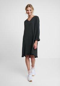 Saint Tropez - WOVEN DRESS ON KNEE - Day dress - black - 0